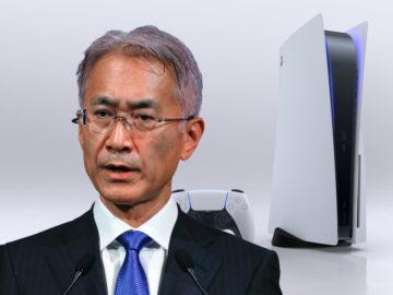 Sony-Chef vor einer Playstation 5