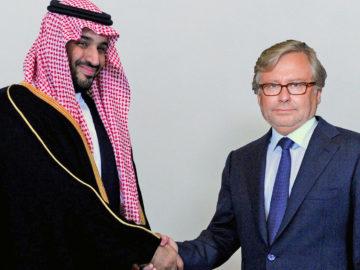 Bin Salman schüttelt Wrabetz die Hand