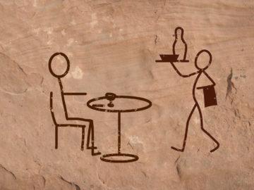 Höhlenmalerei zeigt Restaurant