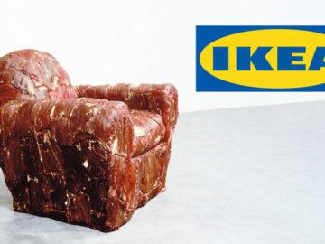 Fleischsessel mit IKEA-Logo