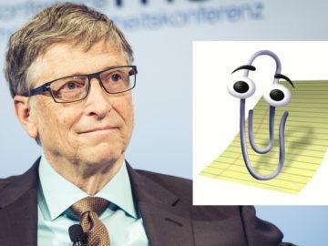 Bill Gates mit Büroklammer Karl Klammer