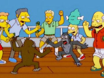 Simpsons: Affen kämpfen gegeneinander