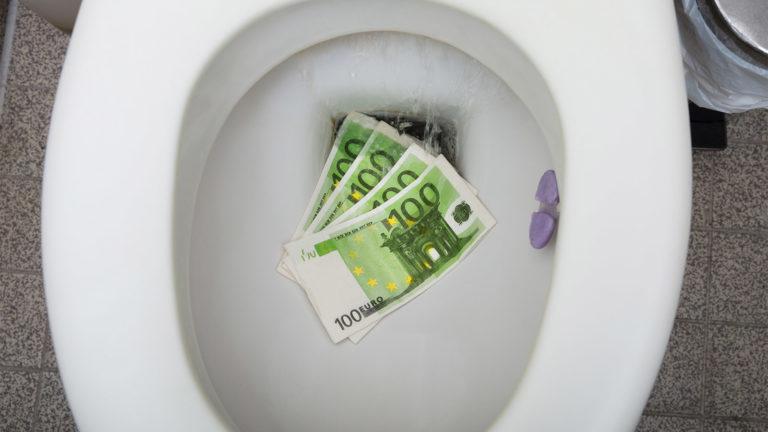 Klomuschel voller Geld
