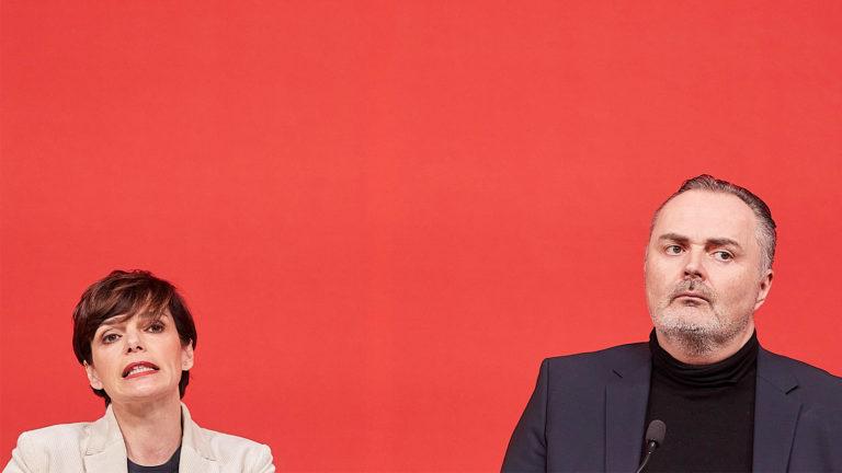 Rendi-Wagner und Doskozil schauen böse