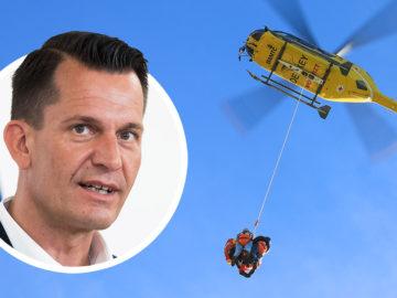 Mückstein, Taubergung mit Hubschrauber