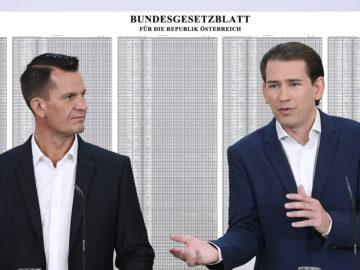 Mückstein und Kurz vor sehr langer Liste